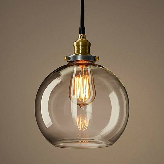 Beautiful Glass Ball Pendant Light For Hall, Kitchen, Bedroom With Regard To Most Recent Ball Pendant Lamps (#3 of 15)