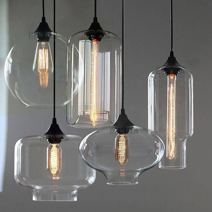 Beautiful Glass Pendant Lamp Modern Glass Hanging Lamp Chandelier For 2017 Contemporary Glass Pendant Lights (#2 of 15)