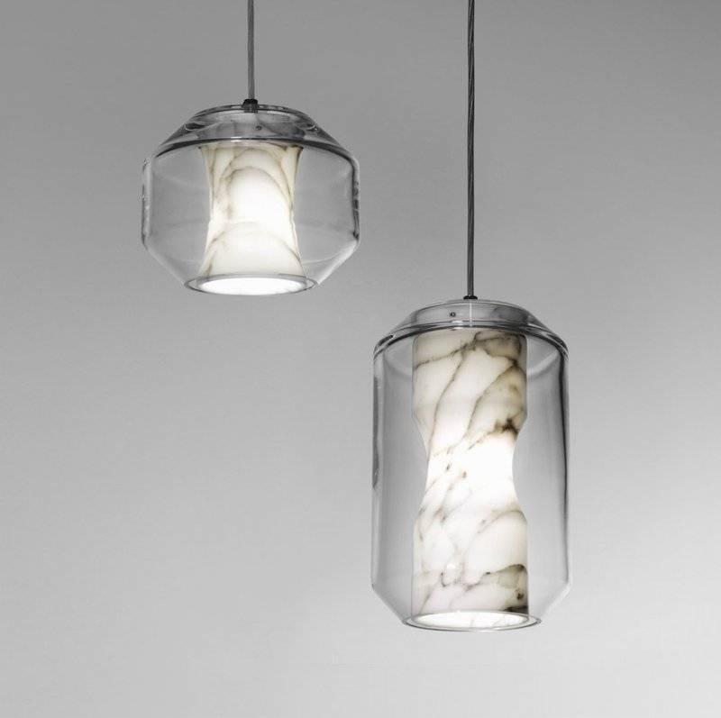 Beautiful Pendant Lamp Made Of Marble And Crystal – Chamber Light For 2018 Beautiful Pendant Lights (#5 of 15)