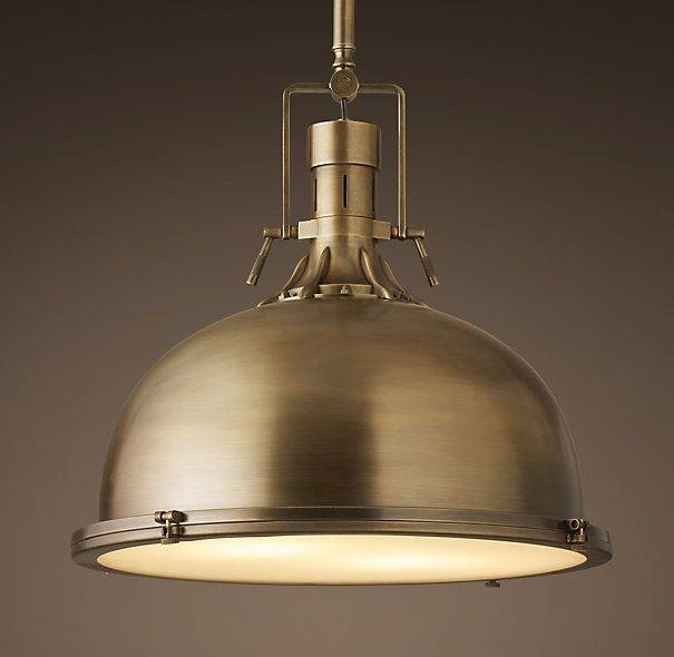 Inspiration about Best 25+ Brass Pendant Light Ideas On Pinterest | Marble Counters Regarding Most Up To Date Huge Pendant Lights (#12 of 15)