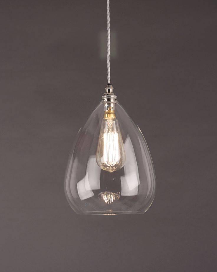 Best 25+ Clear Glass Pendant Light Ideas On Pinterest | Glass With Most Recent Designer Glass Pendant Lights (#3 of 15)