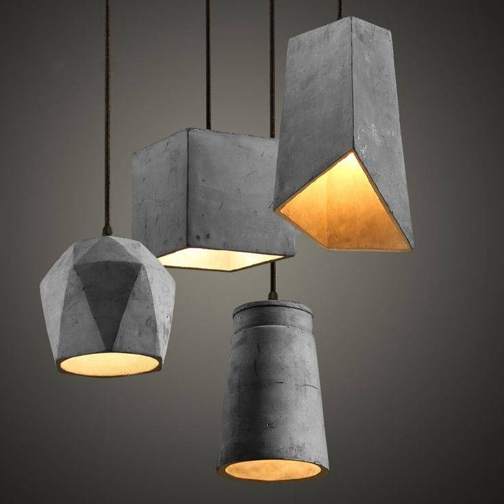 Best 25+ Concrete Lamp Ideas On Pinterest | Concrete Furniture Inside Best And Newest Floor Pendant Lamps (#3 of 15)