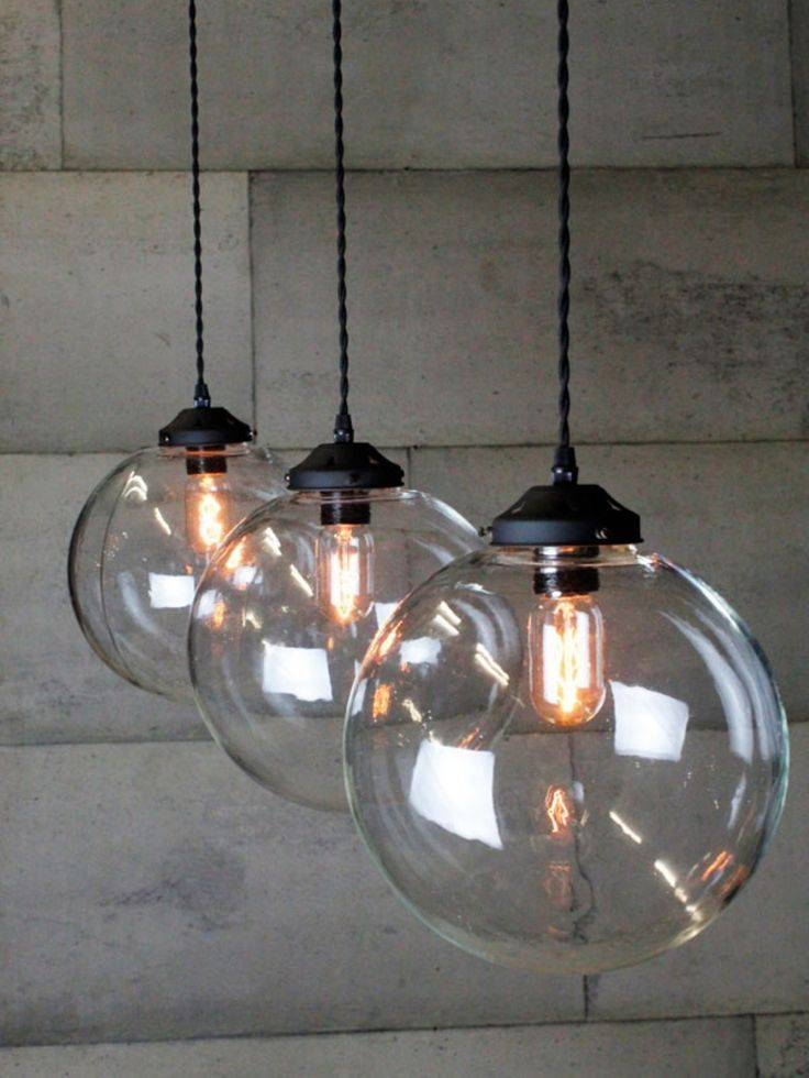 Best 25+ Glass Lights Ideas On Pinterest | Work Lights, Diy Resin Intended For Most Up To Date Fancy Pendant Lights (#3 of 15)