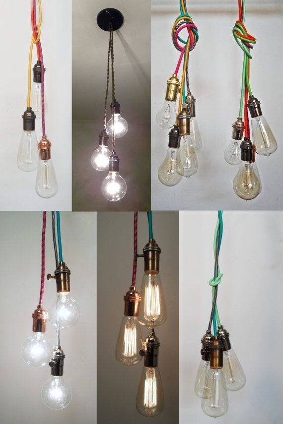 Best 25+ Hanging Light Bulbs Ideas On Pinterest | Lightbulbs With Regard To Bare Bulb Cluster Pendants (View 7 of 15)
