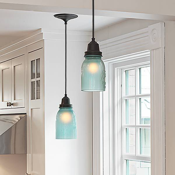 Popular Photo of Mason Jar Pendant Lights