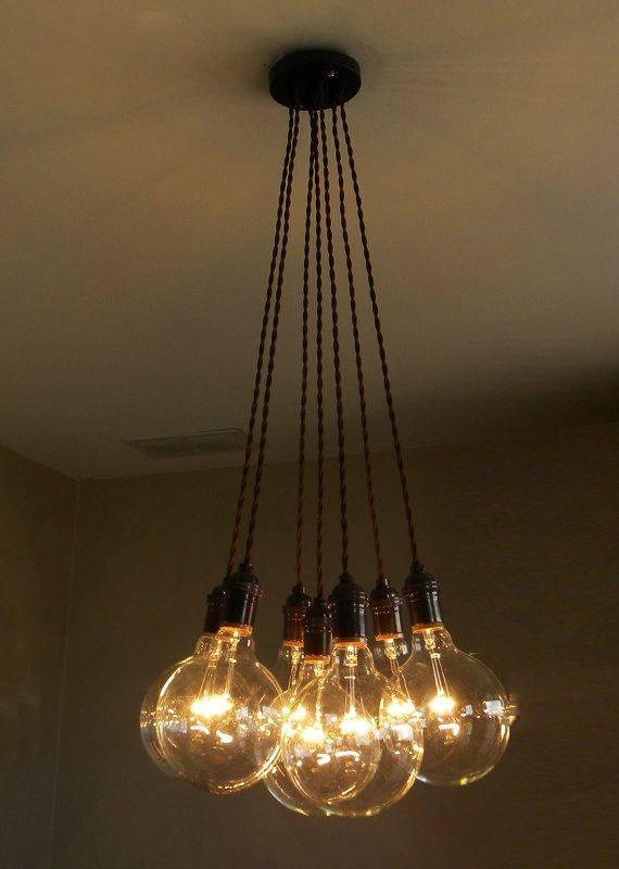 Best 25+ Pendant Chandelier Ideas On Pinterest   Lighting, Bottle Inside Most Up To Date Multiple Bulb Pendant Lights (View 5 of 15)