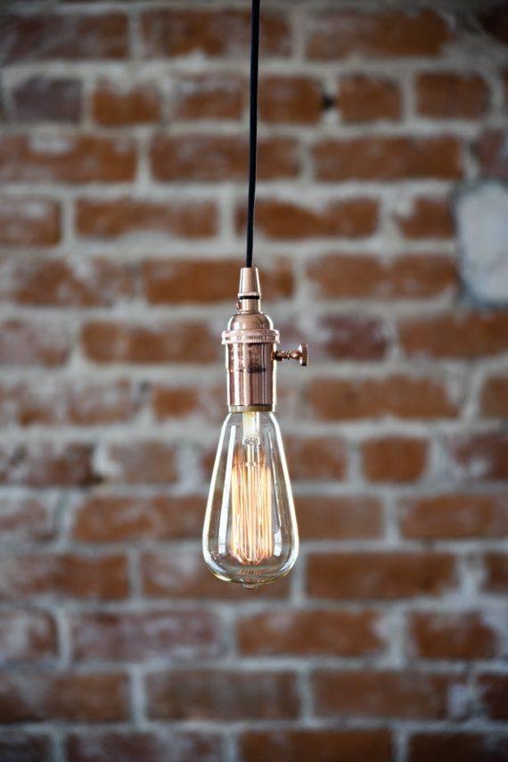 Best 25+ Plug In Pendant Light Ideas On Pinterest | Cage Light Within Three Light Bare Bulb Pendants (View 9 of 15)
