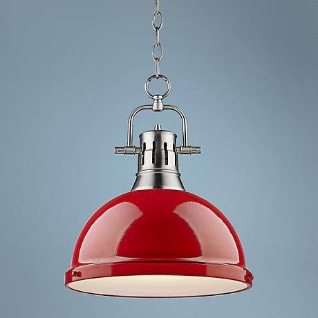 Best 25+ Red Pendant Light Ideas On Pinterest   Pendant Lighting Inside Most Current Large Red Pendant Lights (View 15 of 15)