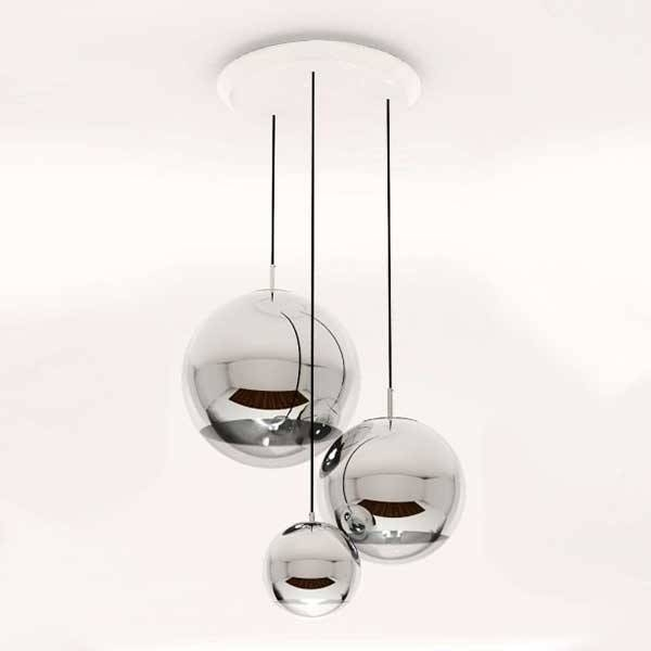 Best Ball Pendant Light Mirror Ball Pendant Lamp Contemporary Intended For Most Recent Mirror Pendant Lights (#1 of 15)