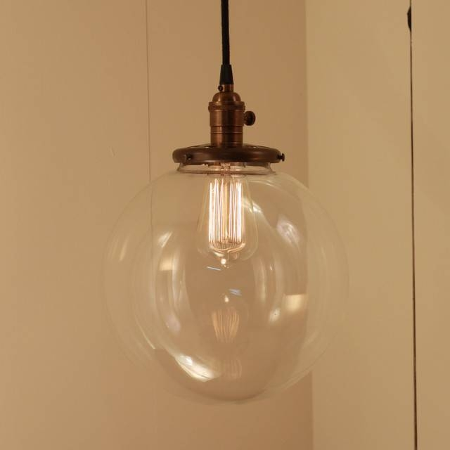 Best Hanging Glass Pendant Lights Round Glass Pendant Light Soul For Current Giant Pendant Lights (#7 of 15)