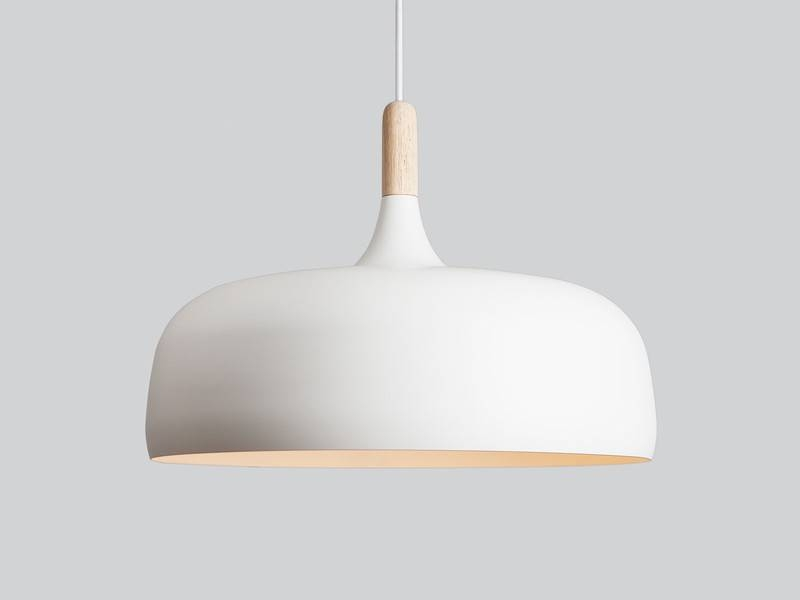 Best White Pendant Light Buy The Northern Lighting Acorn Pendant Pertaining To Most Current Large White Pendant Lights (#5 of 15)