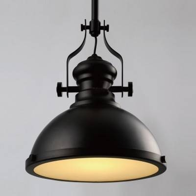 "Black Industrial Style 12"" Width Pendant Lighting With Diffuser Regarding Most Recent Industrial Style Pendant Lights (View 3 of 15)"