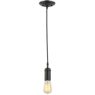 Black – Pendant Lights – Hanging Lights – The Home Depot Intended For 2017 Black Pendant Lights (#7 of 15)