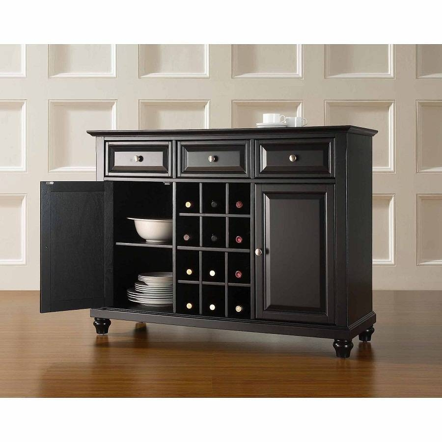 Black Sideboard Buffet Wine — New Decoration : Elegant Black Intended For Elegant Black Sideboards And Buffets (#1 of 15)
