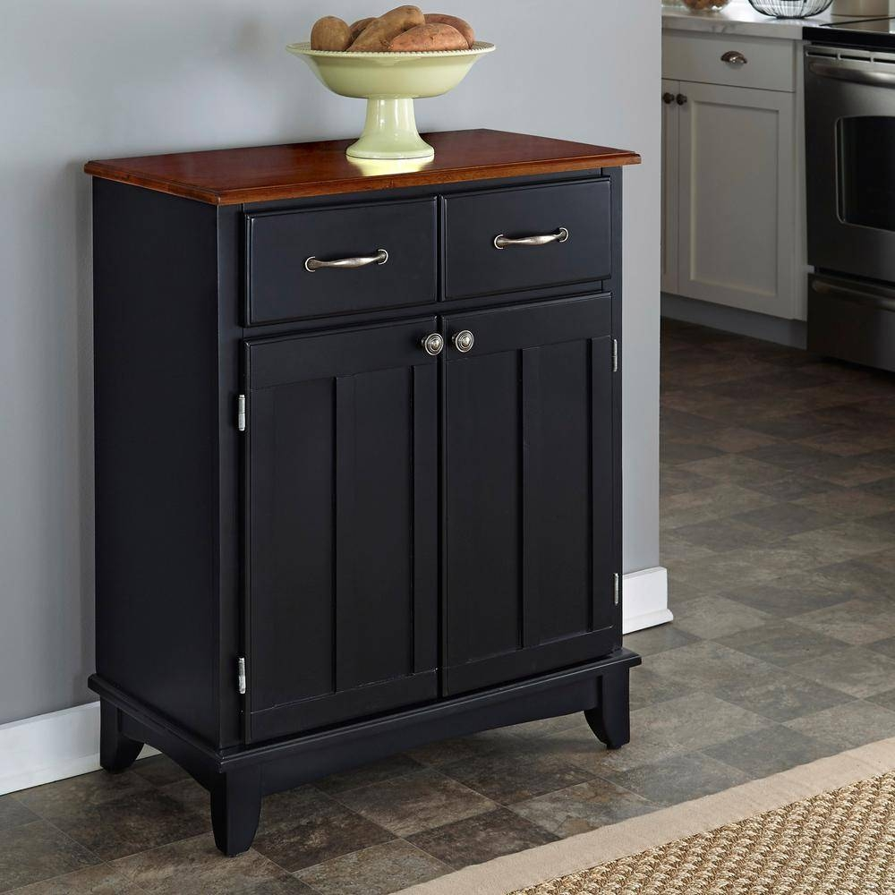 Black – Sideboards & Buffets – Kitchen & Dining Room Furniture Pertaining To Black Gloss Buffet Sideboards (#1 of 15)