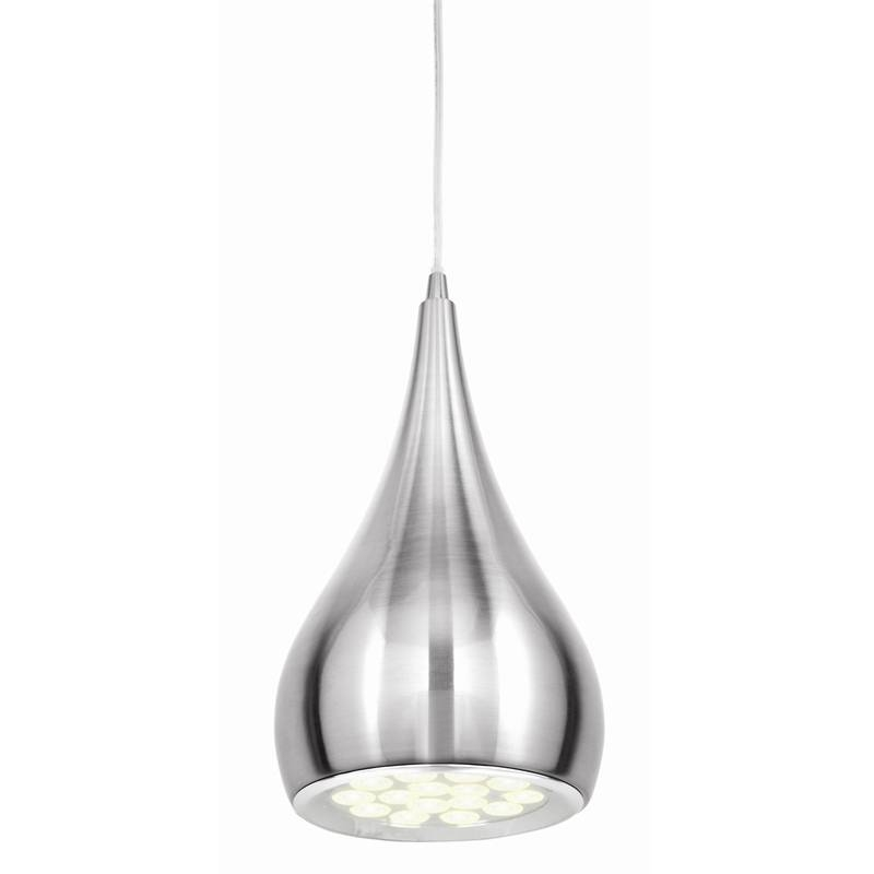 Brilliant Brushed Chrome Clyde Led Pendant Light | Bunnings Warehouse Intended For Current Chrome Pendant Lights (#2 of 15)