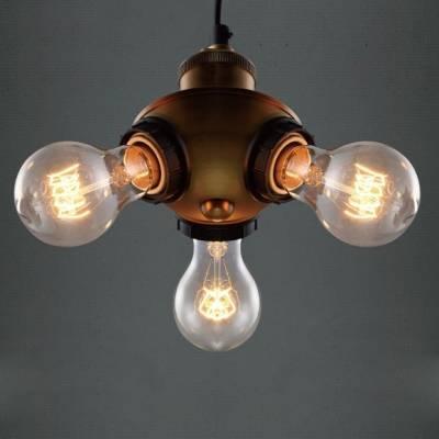 Popular Photo of Three Light Bare Bulb Pendants