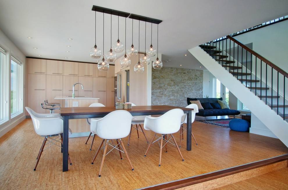 Bubble Light Fixture Dining Room Contemporary With Natural With Regard To Most Recently Released Dining Pendant Lights (#3 of 15)
