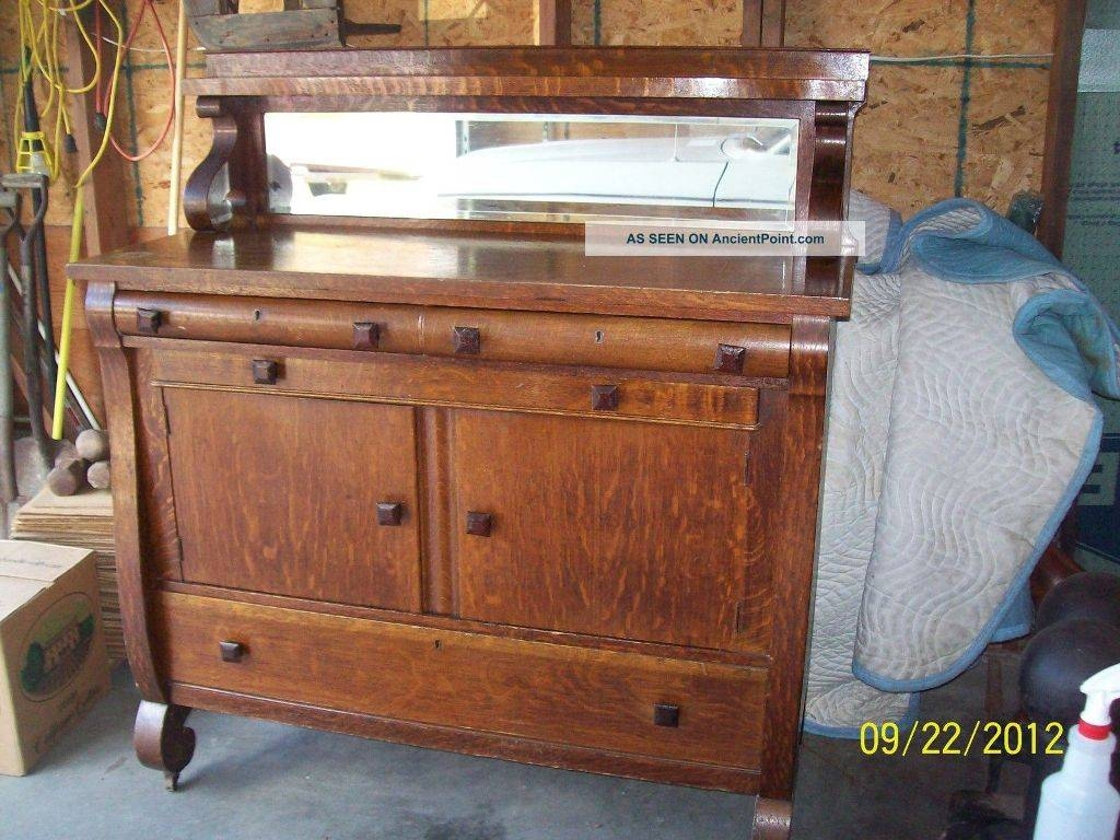 Buffet Sideboard Antique Cabinet With Glass Doors In Sideboards And Buffets With Glass Doors (#1 of 15)