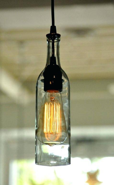 Build Wine Bottle Pendant Light View Gallery Brilliant Lights With Regard To Wine Bottle Pendant Light (View 4 of 15)
