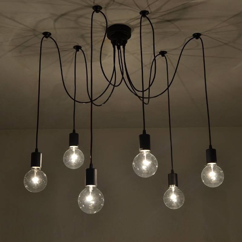 Buy 6 Lights Edison Retro Spider Pendant Light Lighting Ac 110 Within Most Up To Date Spider Pendant Lights (View 3 of 15)