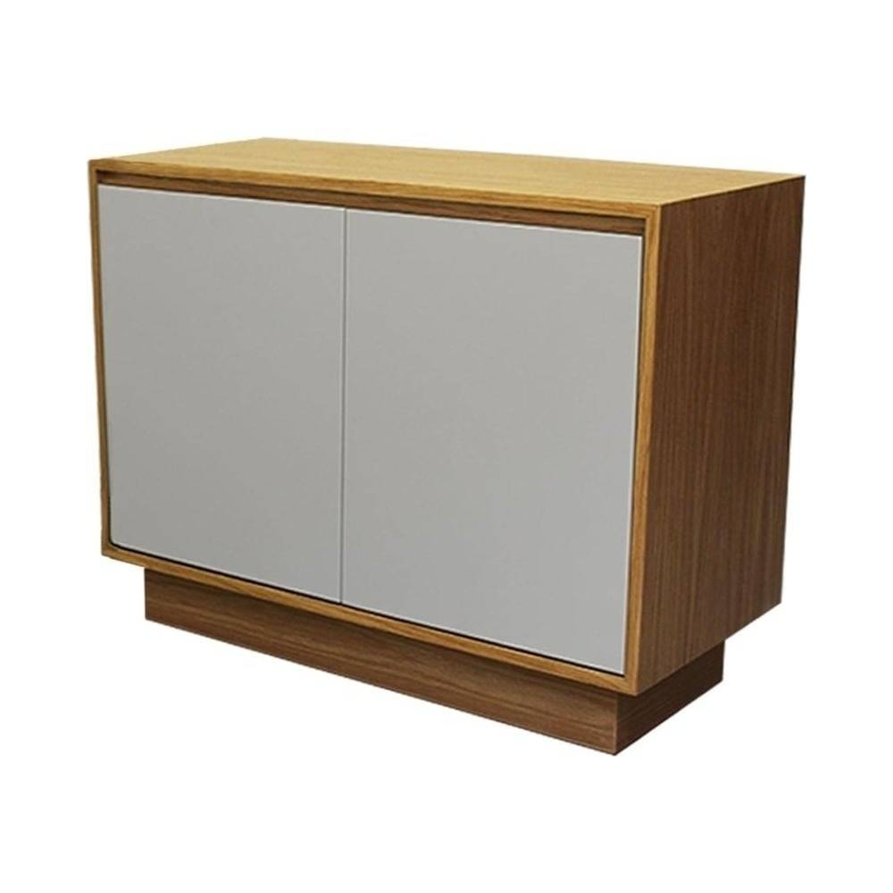 Buy Fusion Living Contemporary Oak And Grey Small Sideboard Intended For Contemporary Oak Sideboards (#3 of 15)