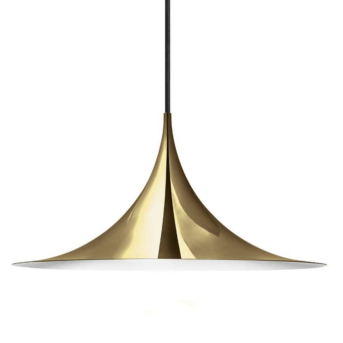 Buy The Gubi Semi Pendant Light | Utility Design Uk Within Recent Semi Pendant Lamps (#9 of 15)