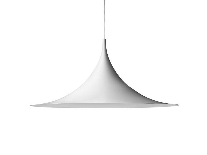Buy The Gubi Semi Pendant Light White At Nest.co (View 10 of 15)