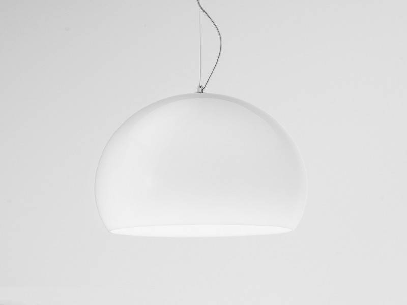 Buy The Kartell Small Fly Suspension Light White At Nest.co (#6 of 15)