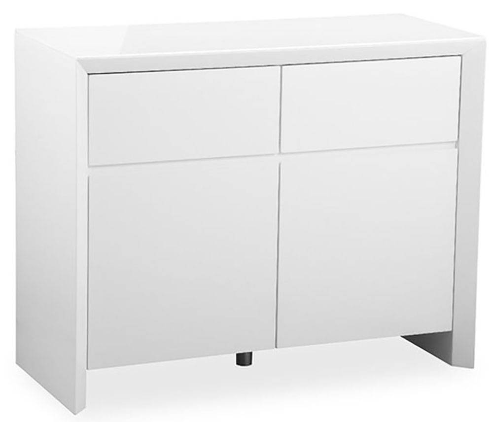 Buy Zeus White High Gloss Small Sideboard Online – Cfs Uk Intended For Cheap White High Gloss Sideboards (#4 of 15)