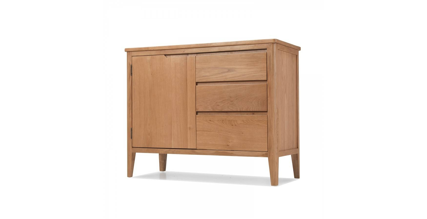 Cadley Oak Small Sideboard With Drawers – Lifestyle Furniture Uk In Small Sideboards With Drawers (View 3 of 15)