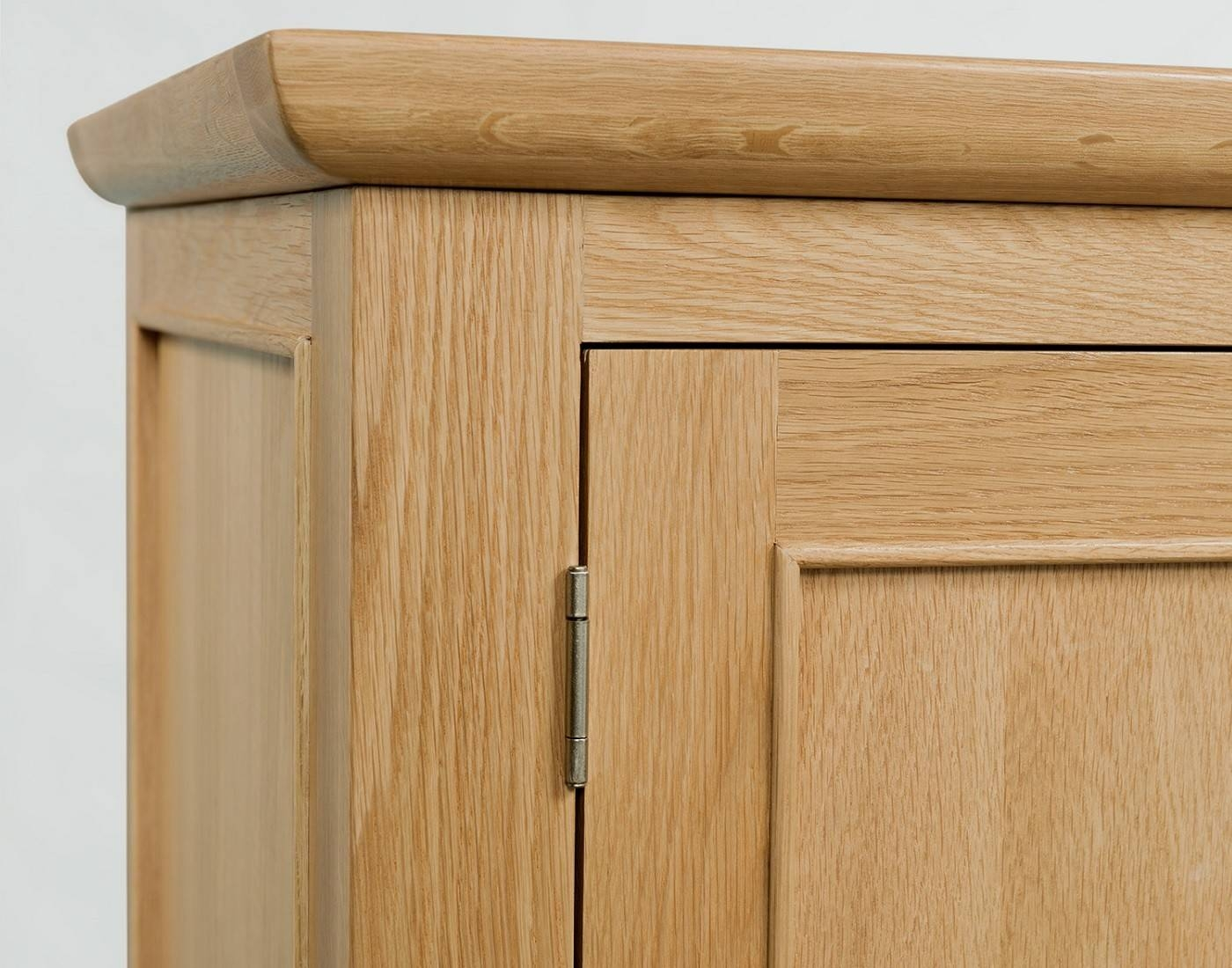 Cheshire Light Oak Tall Narrow Bookcase With 1 Drawer | Oak In Narrow Oak Sideboards (#3 of 15)
