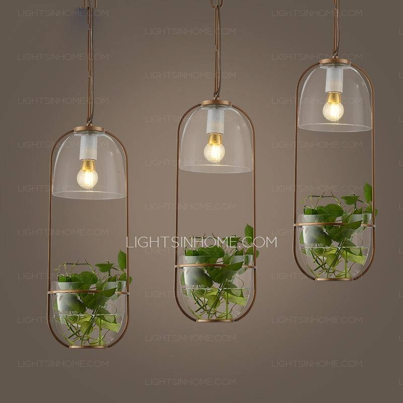 Chic Glass Shade Balcony Long Pendant Light One Piece Within Current Long Pendant Lighting (#5 of 15)