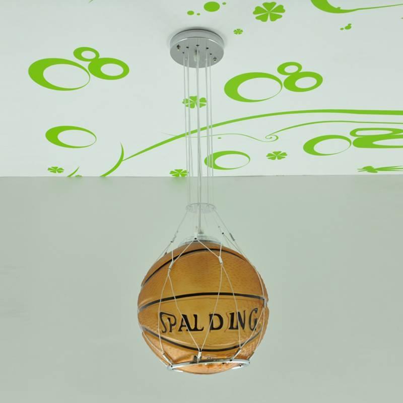 Child's Bedroom Football Pendant Lamp Children Basketball Modern Regarding Current Football Pendant Lights (View 11 of 15)