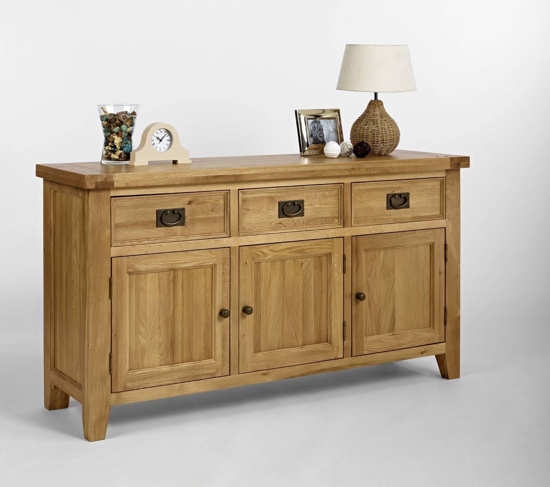 Chiltern Oak Medium Sideboard | Oak Furniture Solutions With Regard To Reclaimed Oak Sideboards (#1 of 15)