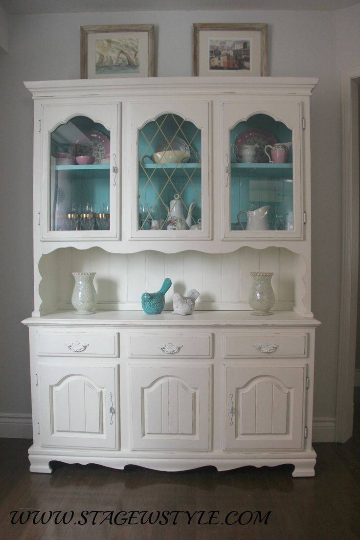 China Cabinet : China Cabinet Redoing Furniture Refinished Shallow Within Shallow Sideboard Cabinets (#6 of 15)