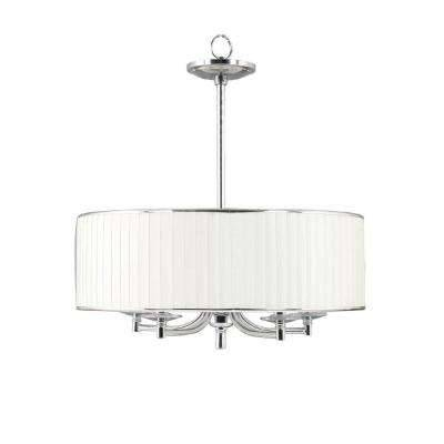 Chrome – Pendant Lights – Hanging Lights – The Home Depot In Most Up To Date Chrome Pendant Lights (#6 of 15)