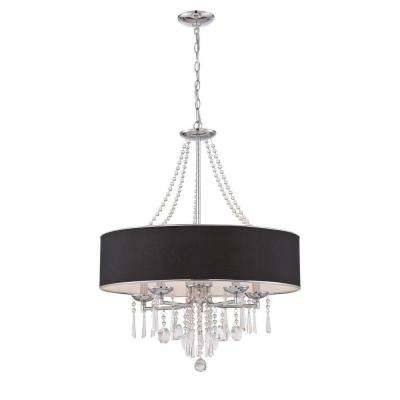Chrome – Pendant Lights – Hanging Lights – The Home Depot Inside Best And Newest Chrome Pendant Lights (#7 of 15)