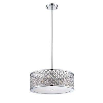 Chrome – Pendant Lights – Hanging Lights – The Home Depot With Regard To Most Current Chrome Pendant Lights (#8 of 15)