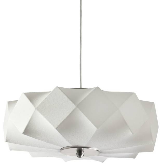 Cocoon Pendant Light, White – Contemporary – Pendant Lighting – For Best And Newest Modern White Pendant Lighting (#6 of 15)
