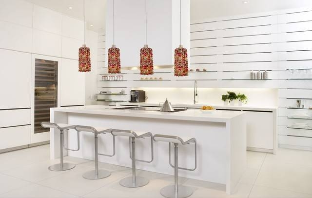 Colorful Crystal Modern Mini Pendant Lighting – Modern – Kitchen Pertaining To Recent Modern Pendant Lights For Kitchen (#6 of 15)
