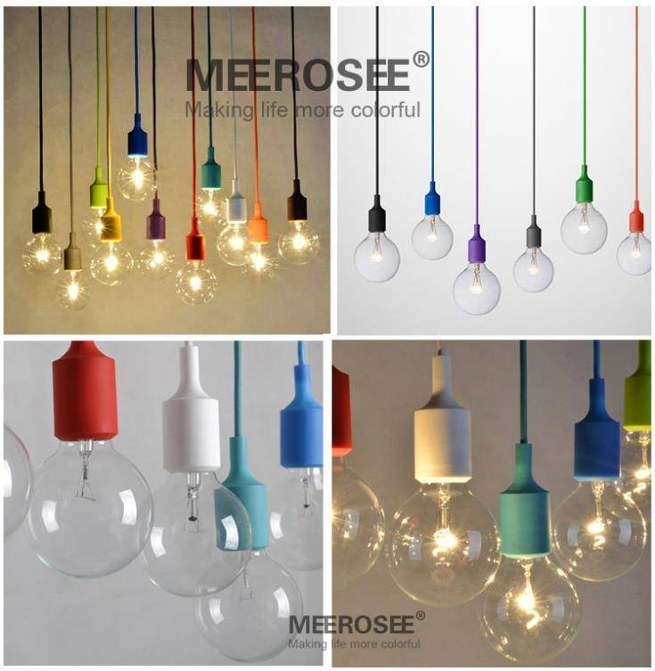 Colorful E27 Socket Pendant Light Suspension Drop Lamp Modern Regarding Latest E27 Pendant Lamps (#3 of 15)