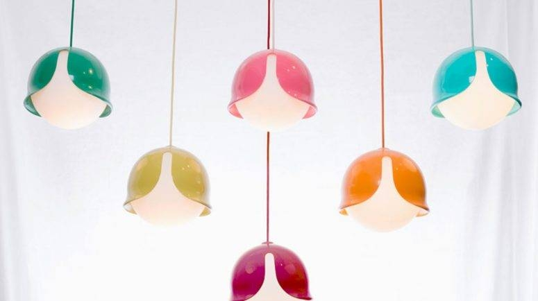 Colorful Snowdrop Pendant Lamp With A Fun Look – Digsdigs For 2017 Fun Pendant Lights (#5 of 15)