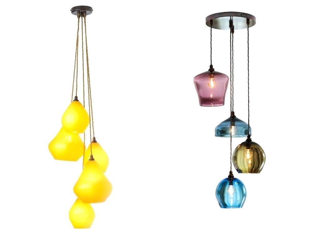 Coloured Glass Pendant Lights – Eugenio3d With Recent Coloured Pendant Lights (View 8 of 15)
