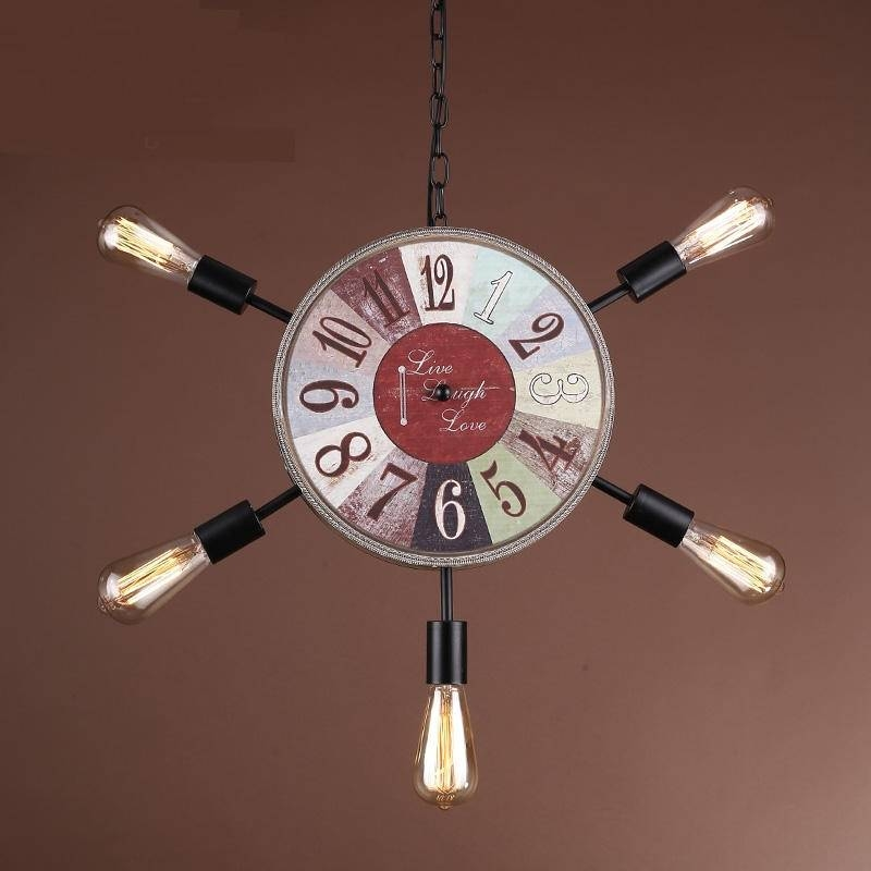 Compare Prices On Clock Retro Lamp  Online Shopping/buy Low Price Within Most Up To Date Clock Pendant Lights (#7 of 15)