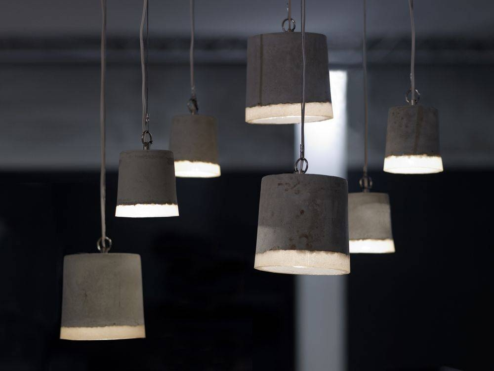 Concrete Pendant Light Largerenate Vos Within 2017 Rubber Pendant Lights (#8 of 15)