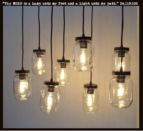 Confortable Mason Jar Pendant Lights Epic Pendant Decor Ideas With Throughout Mason Jar Pendant Lights (#3 of 15)