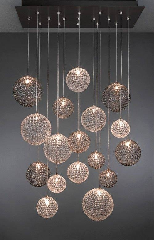 Contemporary Chandeliers And Pendants With Glass Chandelier With Regard To Most Popular Contemporary Chandeliers And Pendants (View 8 of 15)