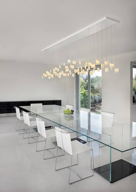 Contemporary Dining Room, Orchids Chandeliergalilee Lighting Inside Most Popular Modern Pendant Lighting For Dining Room (View 5 of 15)