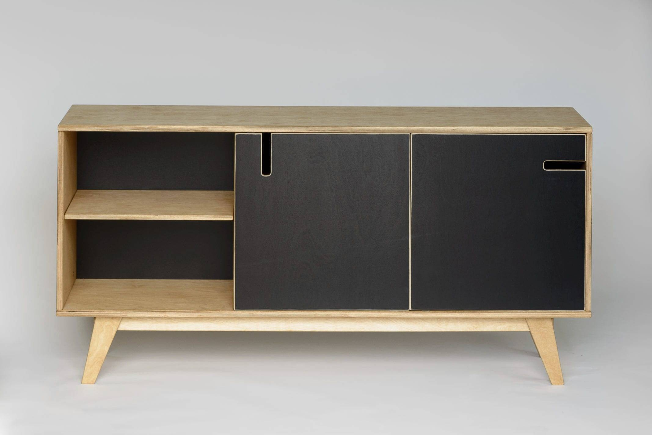 Contemporary Sideboard / Oak / Walnut / Birch – Huhraul Abner For Black And Walnut Sideboards (View 13 of 15)